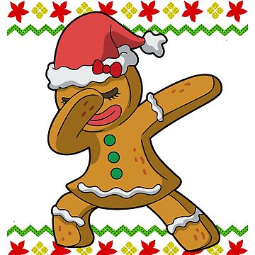 Dabbing Gingerbread Girl Ugly Christmas by frittata