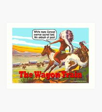 The Wagon Train Art Print