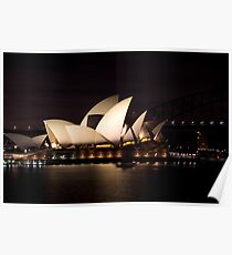 Sydney Opera House before dawn  Poster