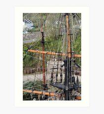 Ropes, Masts And Rigging Art Print