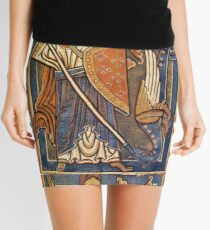 ST.MICHAEL ARCHANGEL WITH DRAGON Antique Tapestry Mini Skirt