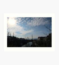 Big Sky In Cornwall Art Print