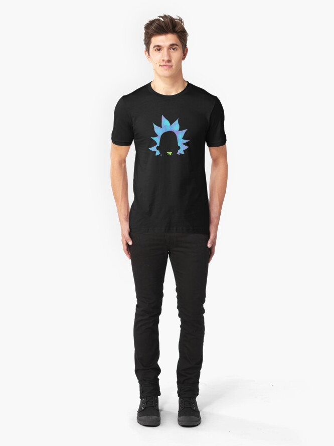 Alternate view of Rick Sanchez silhouette  Slim Fit T-Shirt