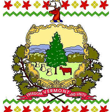 Vermont Christmas Flag Ugly Christmas by frittata