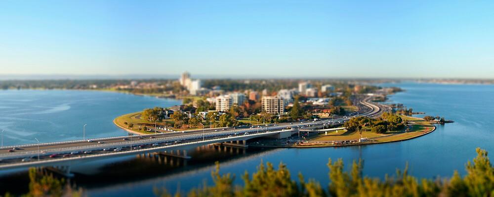 Narrows Bridge into South Perth by Martin Pot