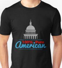 100% Pure American Proud Artwork USA Citizen Gift Unisex T-Shirt