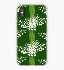 lily of the valley pattern iPhone Case