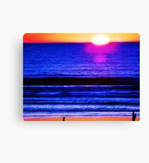 Psychedelic Beach Sunset Canvas Print
