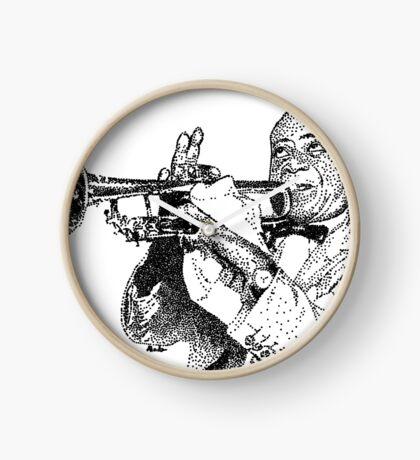 Jazz musician Louis Armstrong Clock