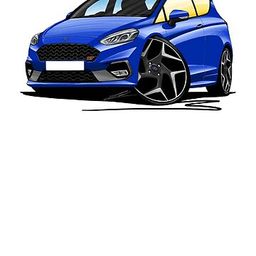 Ford Fiesta ST (Mk8) - Caricature Car Art by yeomanscarart