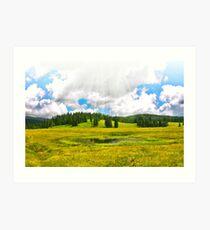 Alpine plateau in vivid colors. Art Print