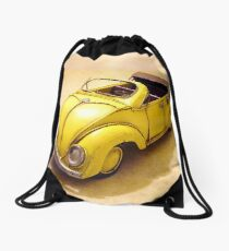 yellow bug Drawstring Bag