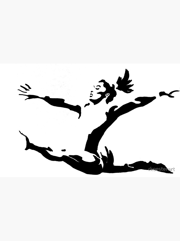 Simone Biles Olympics Soaring USA Black and White by rkoesterart