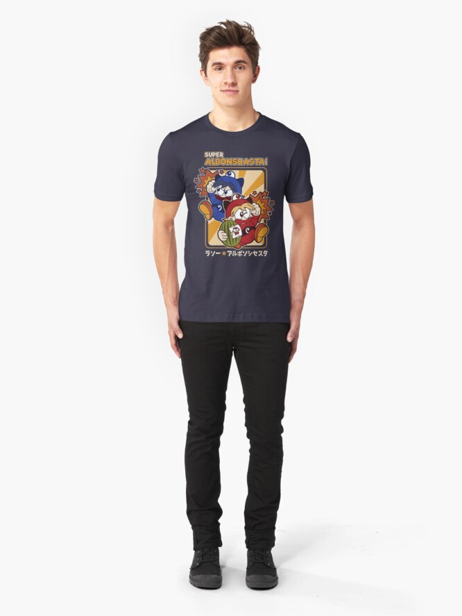 Alternate view of Super Albonshasta Bros.  Slim Fit T-Shirt
