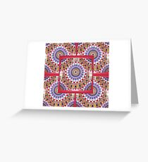 Style Old Colored Lace Fall Into Winter Design at Green Bee Mee Greeting Card