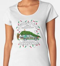 National Lampoon's - Voiture d'arbre de Noël T-shirt premium femme