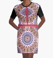 Style Old Colored Lace Fall Into Winter Design at Green Bee Mee Graphic T-Shirt Dress
