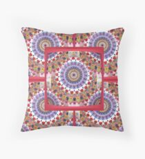 Style Old Colored Lace Fall Into Winter Design at Green Bee Mee Throw Pillow