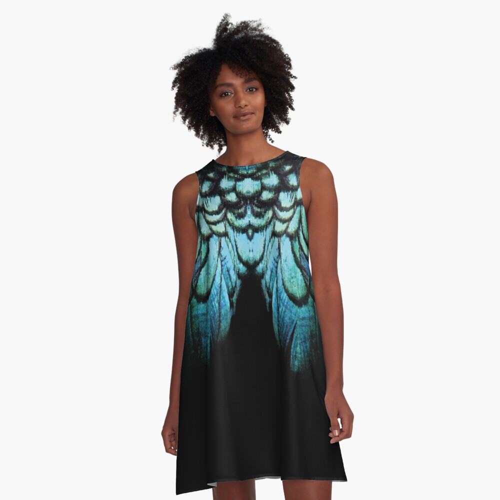 feathery necklace A-Line Dress Front