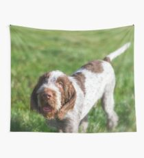 Italian Spinone Puppy Portrait Wall Tapestry