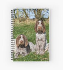 Italian Spinoni Orange and White Adult with Brown Roan Puppies Portrait Spiral Notebook