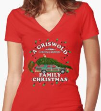 National Lampoon's - Christmas Tree Car Women's Fitted V-Neck T-Shirt