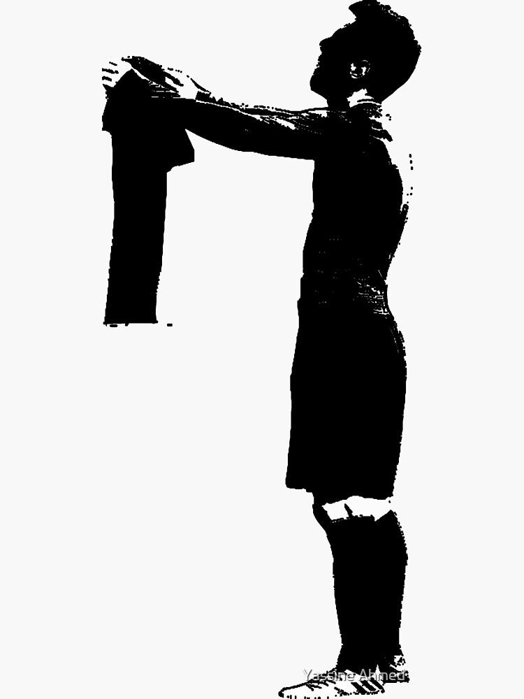 Celebración de Messi en blanco y negro de QuotesMaster