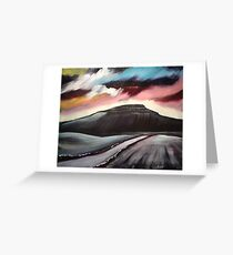 'Winter Dawn - Penyghent' Greeting Card