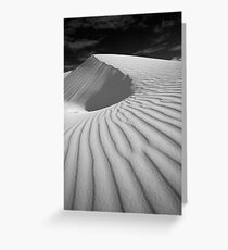 Final Dune in Black and White Greeting Card