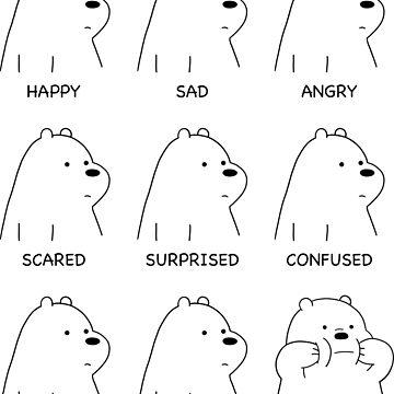 Ice Bear Moods by Summermint