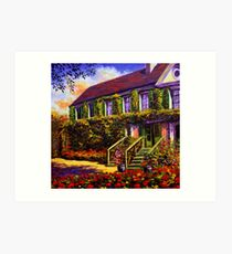 Vines on Claude Monet's House Art Print