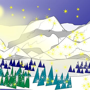 Winter night in the mountains by unsichtbar