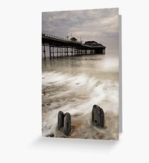 Posts and Pier Greeting Card