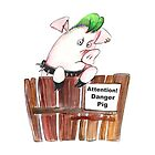 Attention danger pig! by Danysharipova