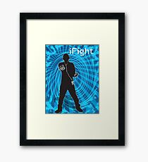 i Fight Framed Print