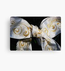 White Bow Canvas Print