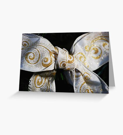 White Bow Greeting Card