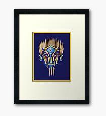 Masked Spiker Framed Print