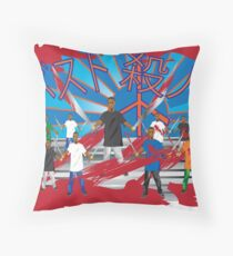 bloody twins Throw Pillow