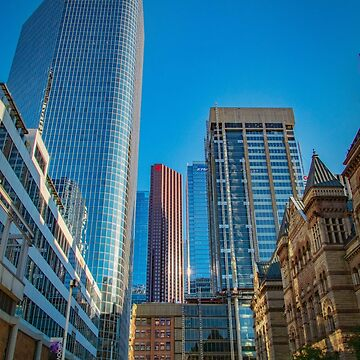 Looking Up in Downtown Toronto on a Sunny Day by gerdagrice