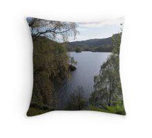 Loch Katrine, The Trossachs. Throw Pillow