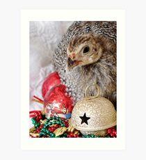 A Guinea Fowl For Christmas Art Print