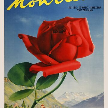 Vintage poster - Montreux, Switzerland by mosfunky