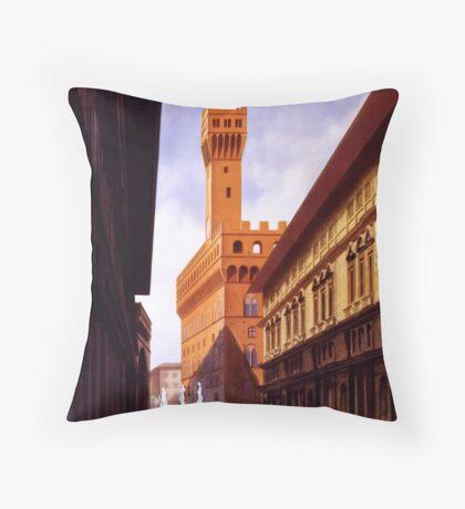 Vintage Firenze Retro Travel Advertisement Art Posters Throw Pillow