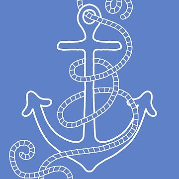 Blue Sailor's Sky With Anchor by challisandroos