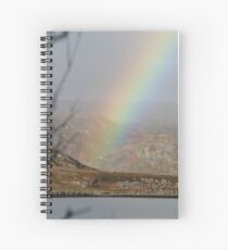 Rainbow over the loche on Skye Spiral Notebook