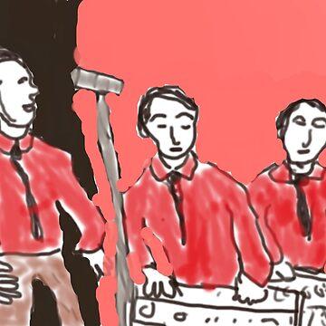 Kraftwerk, Krautrock, electronic, experimental, electro, pop,  Düsseldorf, Germany, techno, techno pop by SGLAZARUS