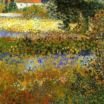 Reprint - Flowering garden - Vincent van Gogh -  by ACoetzer
