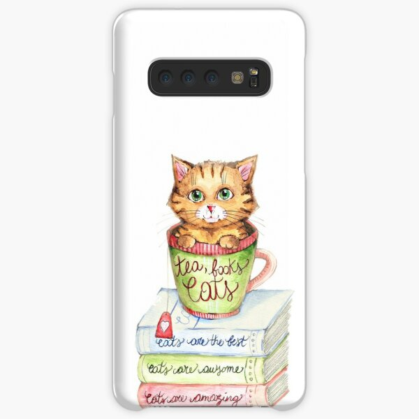 Tea, books and Cats Samsung Galaxy Snap Case