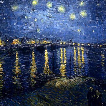 Reprint - Vincent van Gogh - Starry Night by ACoetzer